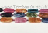 CAA4506 15.5 inches 13*30mm rectangle dragon veins agate beads