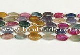 CAA4511 15.5 inches 13*20mm oval dragon veins agate beads