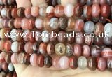 CAA4564 15.5 inches 7*11mm - 8*12mm rondelle south red agate beads