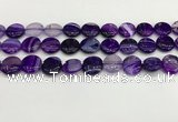 CAA4597 15.5 inches 14mm flat round banded agate beads wholesale