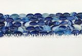 CAA4650 15.5 inches 10*14mm oval banded agate beads wholesale
