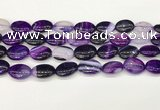 CAA4662 15.5 inches 13*18mm oval banded agate beads wholesale