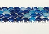 CAA4666 15.5 inches 13*18mm oval banded agate beads wholesale