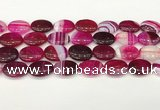 CAA4671 15.5 inches 15*20mm oval banded agate beads wholesale