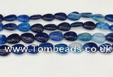 CAA4699 15.5 inches 12*16mm flat teardrop banded agate beads wholesale