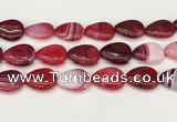 CAA4721 15.5 inches 18*25mm flat teardrop banded agate beads wholesale