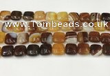 CAA4734 15.5 inches 12*12mm square banded agate beads wholesale