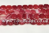 CAA4752 15.5 inches 16*16mm square banded agate beads wholesale