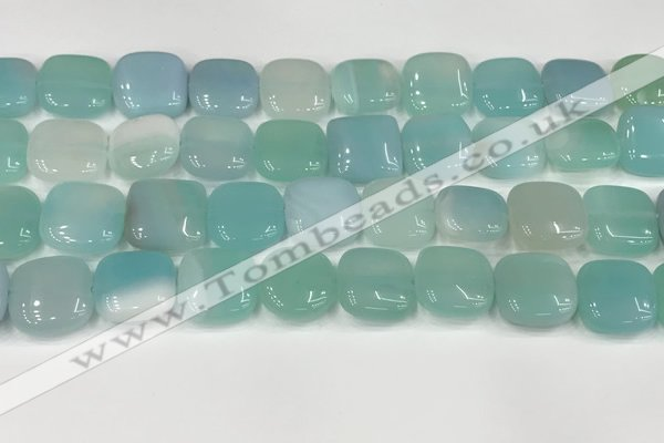 CAA4753 15.5 inches 16*16mm square banded agate beads wholesale
