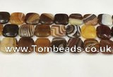 CAA4765 15.5 inches 20*20mm square banded agate beads wholesale