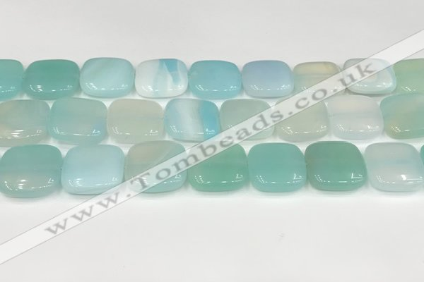 CAA4769 15.5 inches 20*20mm square banded agate beads wholesale