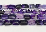 CAA4814 15.5 inches 15*20mm rectangle banded agate beads wholesale