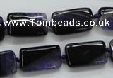 CAA483 15.5 inches 12*20mm rectangle agate druzy geode beads