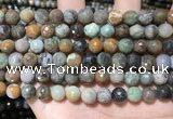 CAA4861 15.5 inches 8mm faceted round ocean agate beads