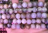 CAA4942 15.5 inches 10mm round bamboo leaf agate beads wholesale