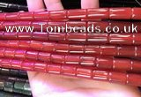 CAA4997 15.5 inches 8*12mm tube red agate beads wholesale