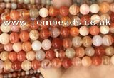 CAA5003 15.5 inches 8mm round red botswana agate beads wholesale