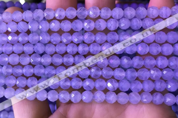 CAA5005 15.5 inches 6mm faceted round blue lace agate beads