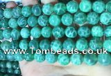 CAA5023 15.5 inches 10mm round green dragon veins agate beads