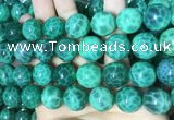 CAA5026 15.5 inches 16mm round green dragon veins agate beads