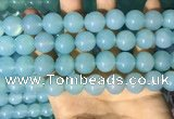 CAA5094 15.5 inches 12mm round sea blue agate beads wholesale