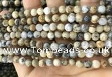 CAA5255 15.5 inches 4mm round dendrite agate beads wholesale