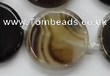 CAA528 15.5 inches 34mm flat round madagascar agate beads