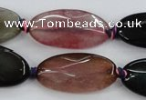 CAA578 15.5 inches 15*30mm faceted oval dragon veins agate beads