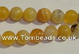 CAA90 15.5 inches 12mm round botswana agate gemstone beads