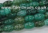 CAB50 15.5 inches 8*12mm egg-shaped peafowl agate gemstone beads
