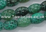 CAB51 15.5 inches 12*16mm egg-shaped peafowl agate gemstone beads