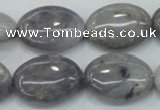 CAB927 15.5 inches 18*25mm oval natural purple agate beads wholesale