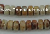 CAB975 15.5 inches 6*10mm rondelle Morocco agate beads wholesale