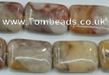 CAB979 15.5 inches 18*25mm rectangle Morocco agate beads wholesale
