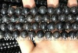 CAE307 15.5 inches 10mm round astrophyllite gemstone beads