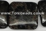 CAE85 15.5 inches 35*35mm square astrophyllite beads wholesale