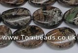 CAF136 15.5 inches 12*16mm twisted oval Africa stone beads