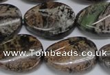 CAF139 15.5 inches 18*25mm twisted oval Africa stone beads