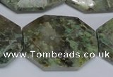 CAF154 15.5 inches 25*35mm faceted octagonal Africa stone beads