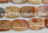 CAG1097 15.5 inches 13*18mm rectangle Morocco agate beads wholesale