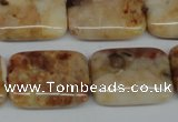 CAG1098 15.5 inches 18*25mm rectangle Morocco agate beads wholesale