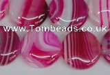 CAG1171 15.5 inches 20mm flat round line agate gemstone beads