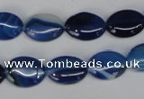 CAG1272 15.5 inches 10*14mm oval line agate gemstone beads