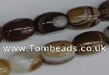 CAG1331 15.5 inches 10*15mm drum line agate gemstone beads