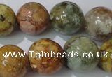CAG1706 15.5 inches 16mm round rainbow agate beads wholesale