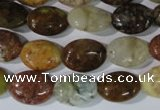 CAG1734 15.5 inches 10*14mm oval rainbow agate beads wholesale