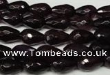 CAG2303 15.5 inches 8*12mm faceted teardrop agate gemstone beads