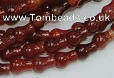 CAG232 15.5 inches 8*12mm pear-shaped red agate gemstone beads