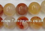 CAG2377 15.5 inches 16mm round red agate beads wholesale