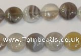 CAG2435 15.5 inches 12mm flat round Chinese botswana agate beads
